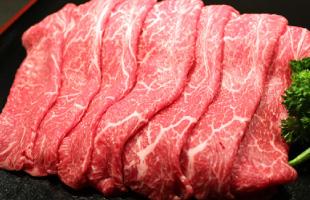 青森県産田子牛モモ肉 すきやき用 500g