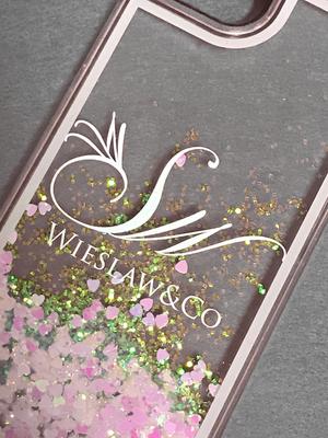 Wieslaw&Co グリッターケース(Pink Heart)