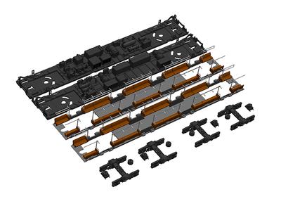 201系走行化キットB[床下機器・座席付属] (モハ201・200用)【12月発売予定】