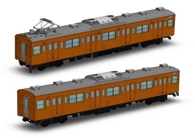 JR東日本201系直流電車(中央線快速)モハ201・モハ200キット