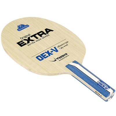 ヤサカ シェークラケット OEX-V(50%OFF)基本技術の習得に最適なコントロール系ラバー『オリジナルエクストラ』と相性抜群のラケット。適度な弾みを持ちながら扱い易く、これから卓球を始める初級者に