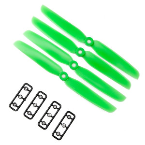 Gemfan 6x4.5 CW/CCW 1set Green