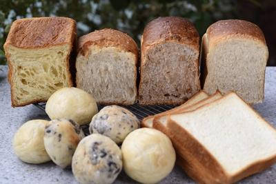 【パンセット】食パン5種とテーブルロール2種食べ比べセット