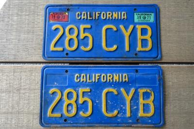カリフォルニアライセンスプレート 1969~1982
