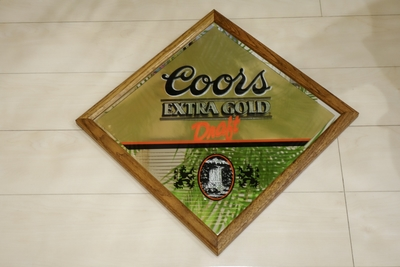 COORS EXTRA GOLD パブミラー