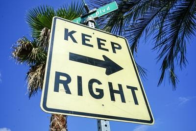 ロードサイン KEEP RIGHT
