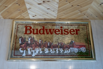 特大 Budweiser パブミラー