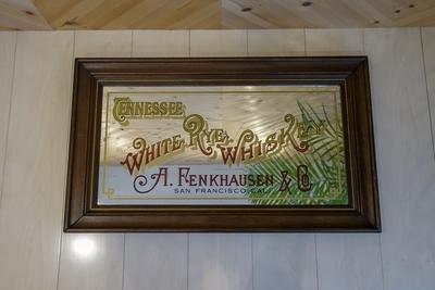 A.Fenkhausen Tennessee White Rye Whiskey アンティークパブミラー