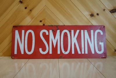 NO SMOKING ビンテージメタルサイン