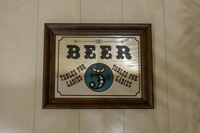 BEER 5¢ パブミラー