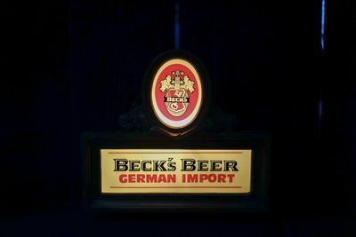 Beck's BEER ビンテージライトサイン