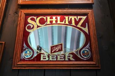 Schlitz BEER ビンテージパブミラー
