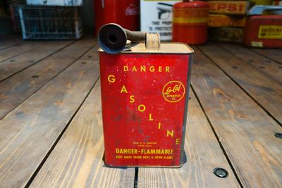 1960s La-cal vintage 1gal gasoline can