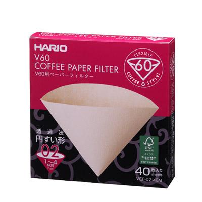 ハリオV60-02用ペーパーフィルターみさらし(40枚入り)