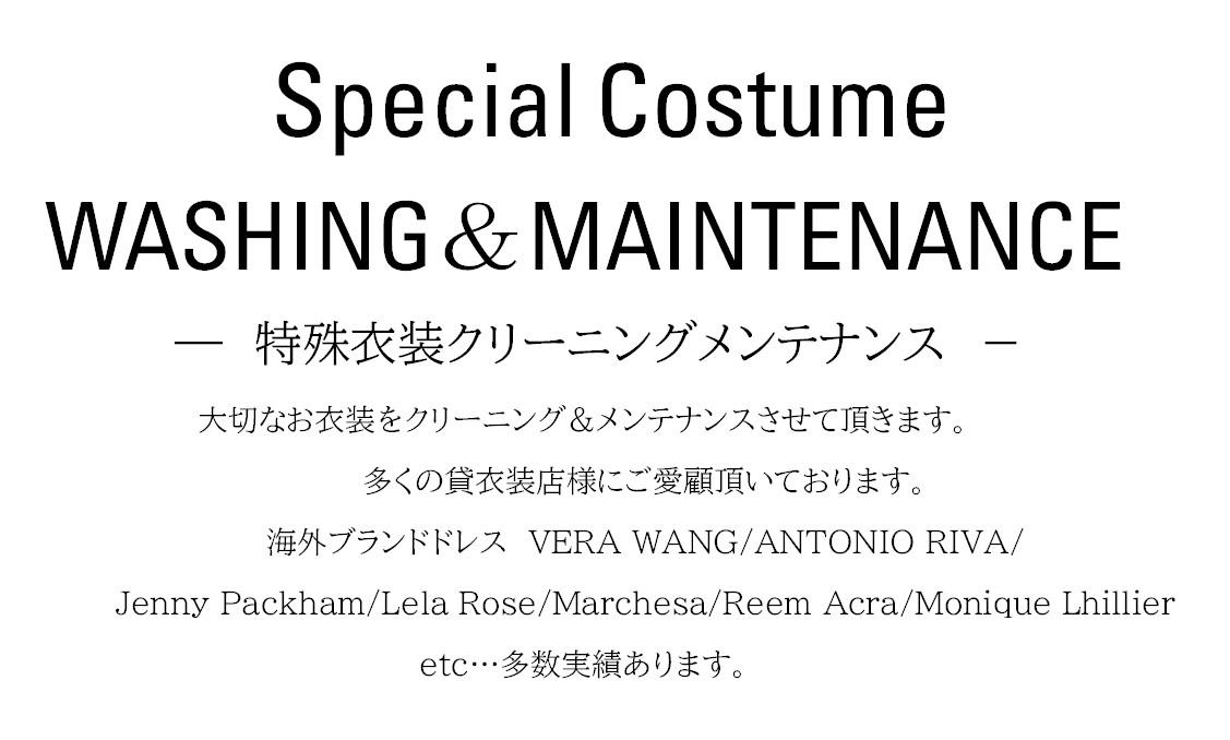特殊衣装のクリーニング・メンテナンス