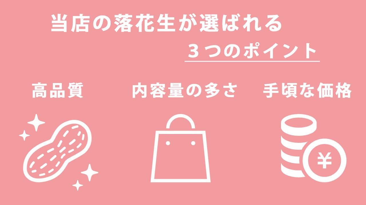 石井進商店のピーナッツのこだわりポイント