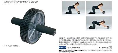 TOEI LIGHT(トーエイライト) スリムトレーナー H9070 腹筋ローラー 静音 組立簡単 省スペース!手軽にトレーニング!即納!