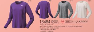 ヨネックス YONEX【16484】 WOMENロングスリーブTシャツ