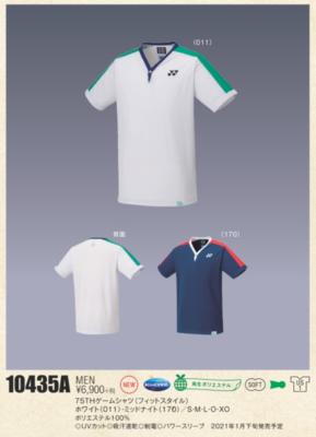 YONEX  10435A 75THメンズゲームシャツ