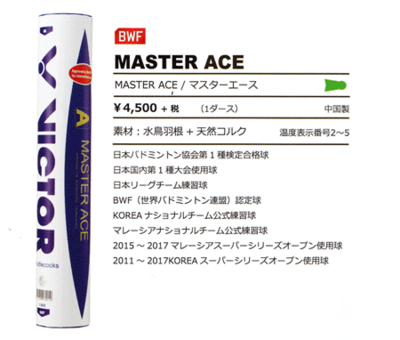 VICTOR MASTER ACE 10ダース