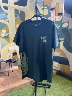 長谷川ホルモンTシャツ[濃いみどり]