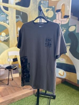 長谷川ホルモンTシャツ[こげちゃ]