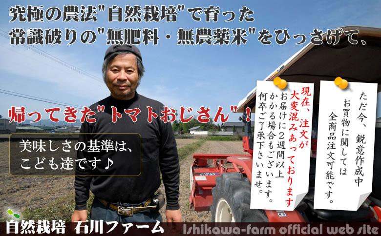 石川ファーム~自然栽培無農薬米、自然栽培無農薬野菜