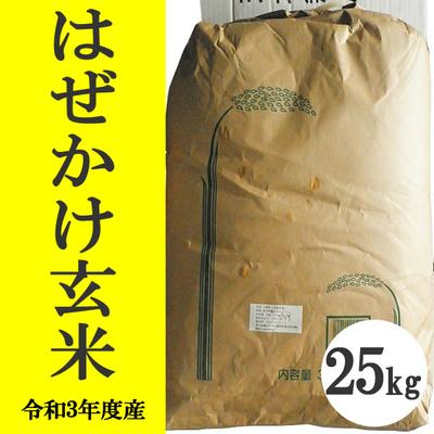 無肥料無農薬米(自然栽培米)はぜかけ米 玄米25kg