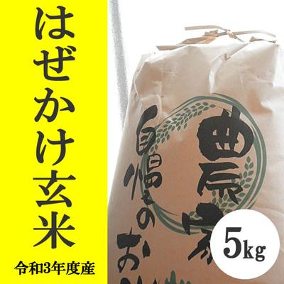 無肥料無農薬米(自然栽培米)はぜかけ米 玄米5kg
