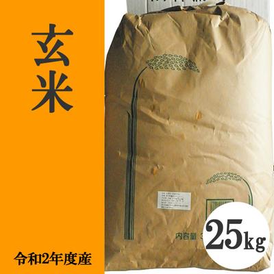 無肥料無農薬米(自然栽培米)玄米25kg