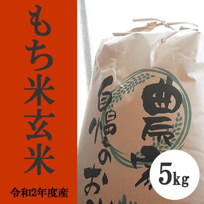 無肥料無農薬米(自然栽培米)もち米 玄米5kg