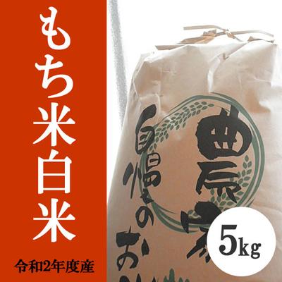 無肥料無農薬米(自然栽培米)もち米 白米5kg