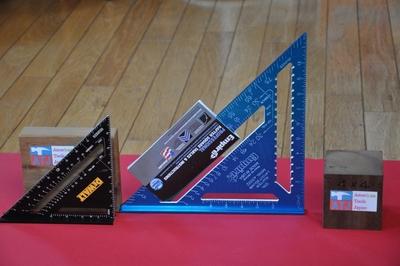 丸のこ三角定規 エンパイヤ ブルーメタリック(大300ミリ)ハイビジブル