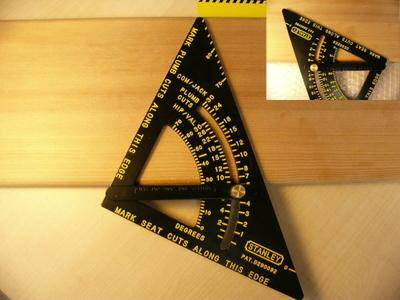 角度付き丸のこ定規  ポケッタブル プロ仕様 ブラックタイプ