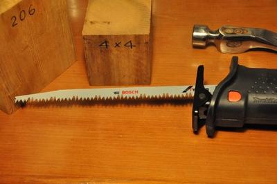 レシプロソー 枝切り、剪定、幅広材カット 300mm