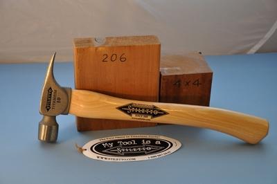 スティレトー チタン 木製ハンドル フィニッシュハンマー1010 ツルツル面