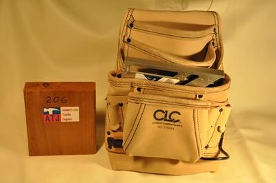 CLC トップレザー腰袋 シングル 4段 右ハンマー