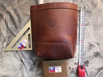 グレインテックス社 トップグレイン革 大口径シングルシンプル腰袋