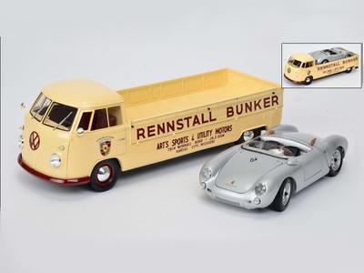 VW カートランスポーター Bunker & ポルシェ 550 Spyder セット