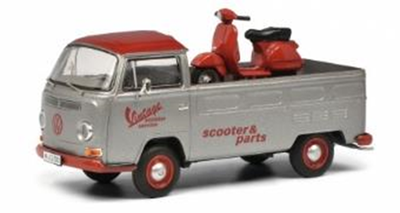 """1/43  """"VW T2a """"""""VINTAGE SCOOTER SERVICE"""""""" ヴェスパPX積載""""     LIMITED EDITION 500"""