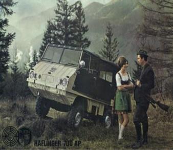 1/18シュタイア Puch Haflinger 小型全地形対応車          中層山岳地帯などで使われていた全地形車両
