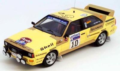 """1/43""""アウディ クアトロ 1983年RACラリー 4位 #10 Lasse Lampi / Pentti Kuukkala"""""""