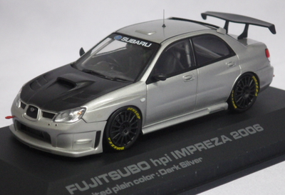 1/43  FUJITSUBO hpi IMPREZA 2006  PLAIN COLOR MODEL Dark Silver