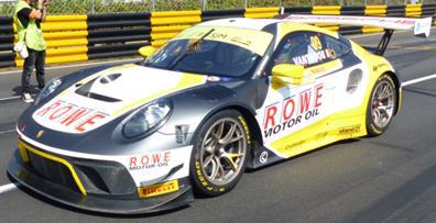 1/64  Porsche 911 GT3 R No.99 ROWE Racing  2nd FIA GT World Cup Macau 2019 Laurens Vanthoor