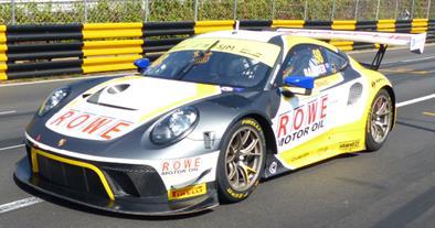 Porsche 911 GT3 R No.98 ROWE Racing  3rd FIA GT World Cup Macau 2019 Earl Bamber