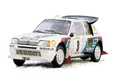 1/18  プジョー 205 T16 1986年ラリー・モンテカルロ  Bruno Saby/J.F. Fauchille