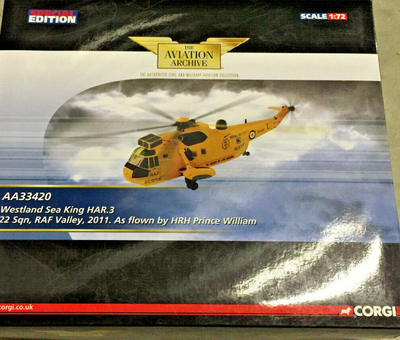 1/72  Westland Sea King HAR.Mk 3 RAF No.22 Sqn, HRH Prince William, RAF