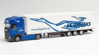 """1/87 スカニア CS 低床冷蔵ボックストレーラー """"JS Logistik"""""""