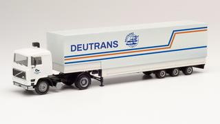 """1/87 ボルボ F12ジャンボキャンバスセミトレーラー""""Deutrans"""""""