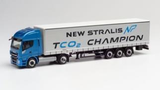 """1/87 イベコ ストラリス NPカーテンキャンバストレーラー""""New Stralis TCO2 Champion"""""""